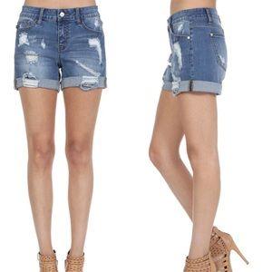 Pants - New! Judy Blue Distressed Jean Shorts